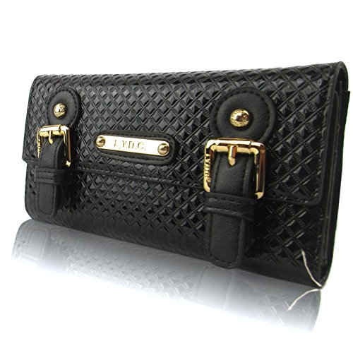 Zarla LYDC-Luv-Custodia a portafoglio della linea Hologram, borsellini-Borsa da donna con logo Nero (nero)