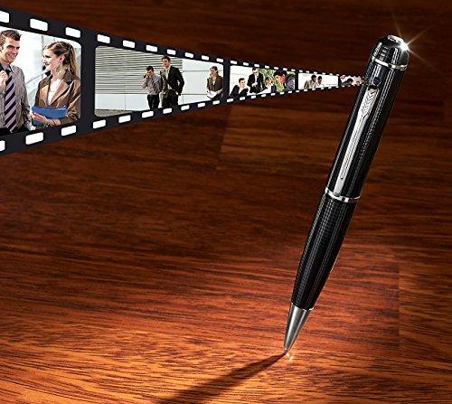 Somikon Spioncamera: Full-HD-Kamera im Kugelschreiber DV-1080.FHD V2, microSD-Slot (Mini Spy Pen Cam)