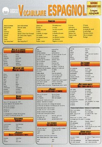 Vocabulaire Espagnol