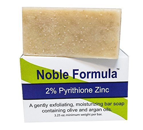Noble Formula 2% Pyrithione Zinc (ZnP) Bar Soap with Argan Oil 3.25 oz - Hand Crafted in the USA, Especially Formulated for Those with Psoriasis, Eczema, Dry and Sensitive Skin by Noble Formula Olivenöl Soap Bar
