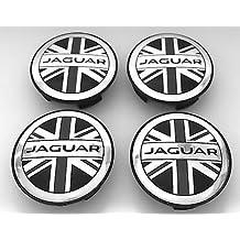 Juego de 4 tapacubos Hub Cap unión jack Flag 59 mm para Jaguar ...