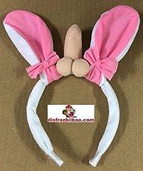 Idea Regalo - Cerchietto con orecchie da coniglio e pene