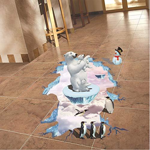 eber Eisbär Pinguin Boden Aufkleber Weihnachten Aufkleber Schneemann Für Kinderzimmer Kinderzimmer Aufkleber ()