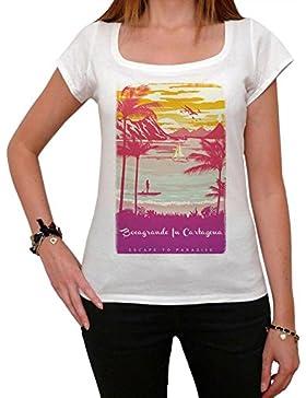 Bocagrande In Cartagena, Escape to paradise, maglietta donna, tshirt estate donna, tshirt spiaggia
