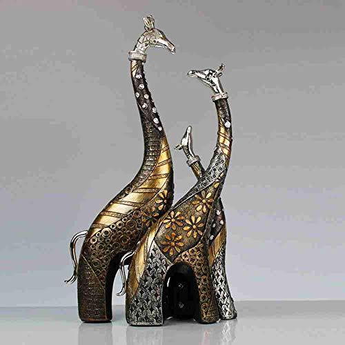 XXYDSDM Estatuas,Jirafas Familia Creativa Esculturas