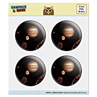 Planet Jupiter with Io Europa Ganymede and Callisto Moons Space Puffy Bubble Dome Scrapbooking Crafting Sticker Set