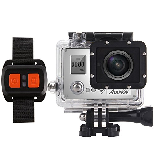 Amkov AMK7000S 1080P HD 60fps WiFi Action Camera with Remote Controller Sunplus 6350 Chipset