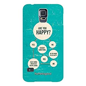 HomeSoGood are You Happy Calculator Multicolor 3D Mobile Case for Samsung S5 (Back Cover)
