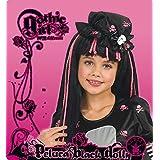 Disney I-52559 - Peluca negra y rosa para disfraz infantil