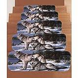 YZ-YUAN Stufenmatten Treppen Teppich Treppenstufen 5Pcs, Selbstklebende Rutschfeste Teppich Treppenstufen Set Von 5 Rutschfeste Gummi Backing Bodenschutz Pad für YZ-YUAN Stufenmatten Treppen Teppich Treppenstufen 5Pcs, Selbstklebende Rutschfeste Teppich Treppenstufen Set Von 5 Rutschfeste Gummi Backing Bodenschutz Pad