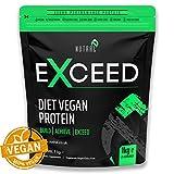 Pflanzliches Vegan Low Carb Proteinpulver - Premium Mischung aus Erbsenprotein, Hanfprotein und braunem Reis Proteinmischung, Vitamin- und Mineralmischung - übertroffen durch Nutral - Stevia-freie, organische Molke, Sojabohnenöl-freie Protein-Alternative - 1KG 25 köstliche Umhüllungen