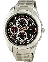 Swiss Grand SG-1168 Silver Coloured With Silver Stainless Steel Strap Analog Quartz Watch For Men