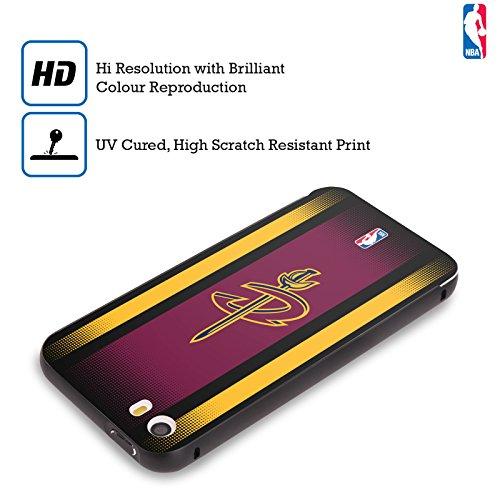 Ufficiale NBA Icona Oversize Cleveland Cavaliers Nero Cover Contorno con Bumper in Alluminio per Apple iPhone 5 / 5s / SE Gradiente Mezzotono