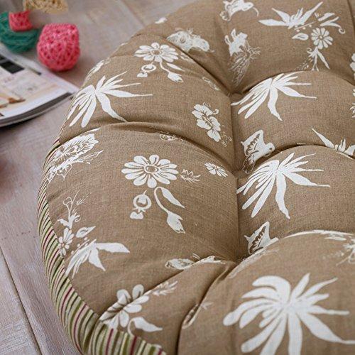 Cojines de silla de tatami Paño de cuatro estaciones para aumentar las esteras gruesas Silla de ratán totora puf-G diámetro55cm(22inch)
