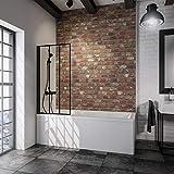 Schulte pare baignoire pivotant, paroi de baignoire rabattable, écran de baignoire...
