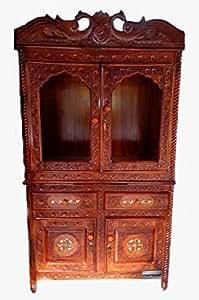 Wooden Mandir / Home Mandir / Pooja Room / Wooden Temple / Wood Temple with Cabinet and Door Frames/ Sheesham (Rosewood) by Aarsun