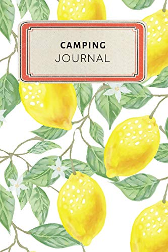 Camping Journal: Cute Yellow Lemon Tropical Dotted Grid Bullet Journal Notebook - 100 pages 6 x 9 inches Log Book (My Hobbies Series Volume 59, Band 59)