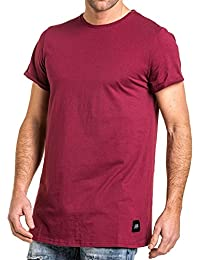 Sixth June - Tee-shirt uni large homme oversize bordeaux