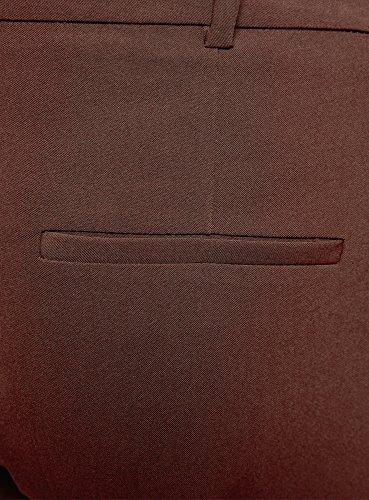 oodji Collection Donna Pantaloni Stretti con Cintura Marrone (3900N)