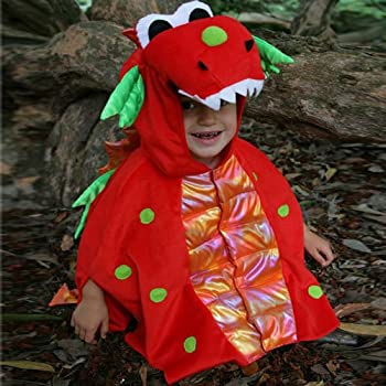 Blaze Dragon (Red) - Kids Costume 4 - 8 years