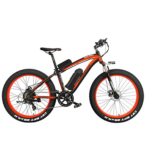 LANKELEISI XF4000 Elite 1000W Potente Bicicleta eléctrica, 26 Pulgadas Fat Bike, Suspension Fork, MTB Snow Bike, Batería de Litio E...