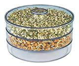 Kuber Industries Exclusive Beans/Grains Sprout Maker – Set of 1 Pc (3 Compartments) Design Code-Spr003