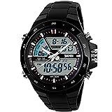 SKMEI-50M-Waterproof-Analogue-Digital-LCD-Multifunctional-Mens-Sports-Watch-Black