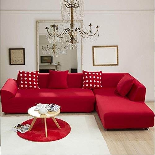 NHFGJ Funda para sofá elástica Antideslizante Color sólido Todo Incluido 1/2/3/4 plazas...