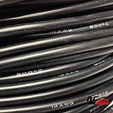 Cable de silicona 18 AWG Flexible negro 0,8mm.