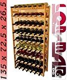 Lenmar R-63 - Scaffalatura in legno per 63 bottiglie di vino