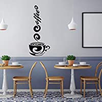 Coffee Wall Sticker Art Decal Wallpaper Self Adhesive Film Bar Cafe Stickers Decoration Restaurant Kitchen Home Decor Wholesale