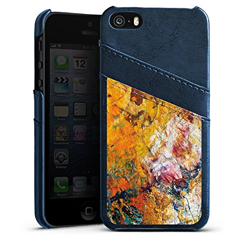 Apple iPhone 6 Housse Étui Protection Coque Peinture à l'huile Peinture Motif Étui en cuir bleu marine