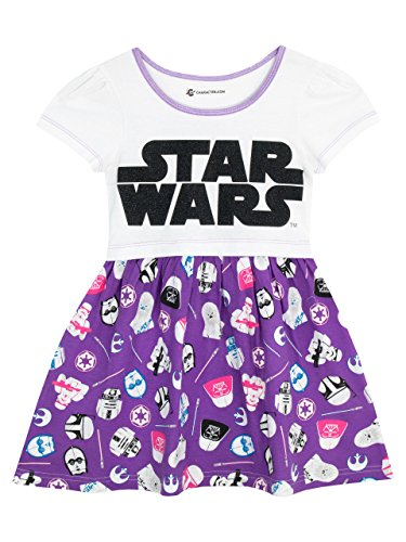 Star Wars Girls Logo Dress Ages 3 To 12 Years