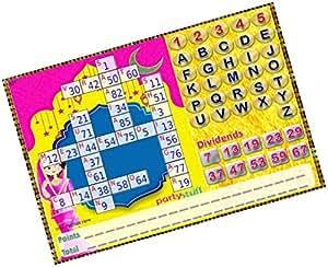 Party Stuff Karwachauth Theme Tambola Housie Tickets - Karwachauth Scrabble Pingu kukuba - Scrabble Pingu kukuba (12 Cards) | Kitty Games