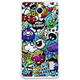 Funda Gel Flexible Huawei Ascend Y635 BeCool Grafiti de Colores Divertido Carcasa Case Silicona TPU Suave