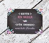 Trauzeugin Dankeschön Karte für Hochzeit, Geschenk für Trauzeugen Danke beste Freundin