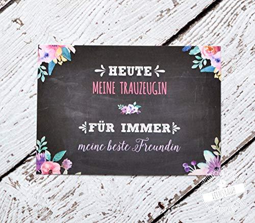 �n Karte für Hochzeit, Geschenk für Trauzeugen Danke beste Freundin ()