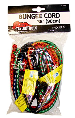 Taylor Tools TAY-62036 90cm/36-inch Heavy Duty Bungee Cord (Pack of 5)