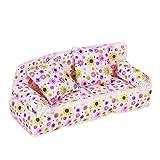 Puppenhaus Miniatur Möbel Blume drucken Sofa Couch