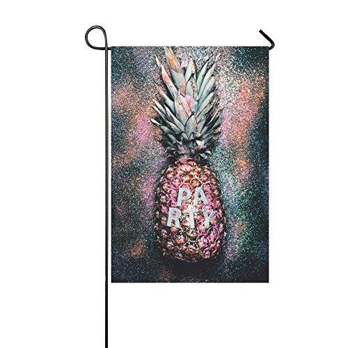 interestprint Glamorous Party Ananas Polyester Garten Flagge Haus Banner 30,5x 45,7cm, Time To Shine Fahne Deko für Hochzeit Party Yard Home Outdoor Decor