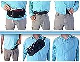 Flache Bauchtasche mit RFID-Blockierung Geldversteck Multifunktional Geldgürtel Hüfttasche Laufgürtel Brustbeutel zum Sport Reisen Fitness oder Joggen -