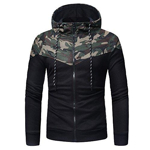 Pullover Herren Drucken Camouflage Kapuzenpullover Long Sleeve Hooded Sweatshirt Tops Jacke Mantel...