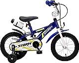 F.lli Schiano Storm Vélo Garçon, Bleu/Blanc, Taille 20'