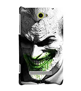 For HTC Windows Phone 8S :: HTC 8Sman, dangrous man, laughter man, grey man Designer Printed High Quality Smooth Matte Protective Mobile Case Back Pouch Cover by APEX