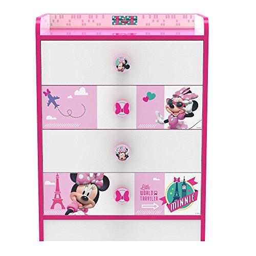 Stor Commode avec tiroirs d'enfant | MINNIE MOUSE JETSET | Disney - Dimensions: 80,5 x 60 x 40 cm. -Plusieurs personnages