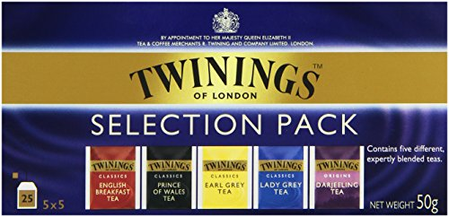 Twinings Selection-Pack Schwarztee 50g, 25 Beutel, 3er Pack (3 x 50 g)