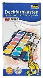 Idena 22064 - Deckfarbkasten mit 24 Farben und 1 Tube Deckweiß