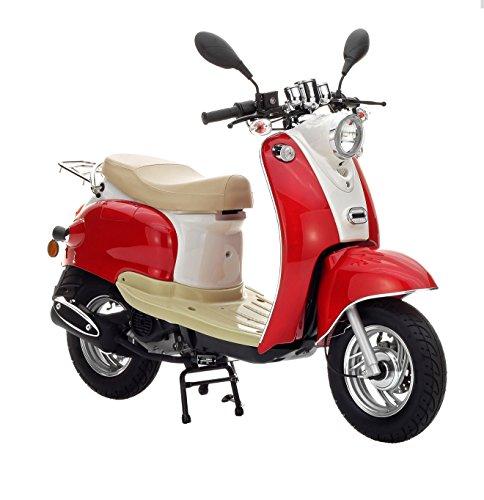 Preisvergleich Produktbild Motorroller Nova Motors Retro Star 50 rot-weiß - 45km/h