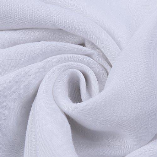 Leapparel Primavera Patchwork Casuale Manica Lunga Bicolore delle Donne Tunica Camicie White