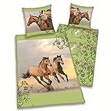 Herding Pferdebettwäsche Wildpferde, 135x200+80x80cm